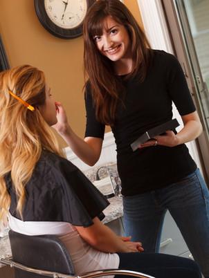 home studio makeup application