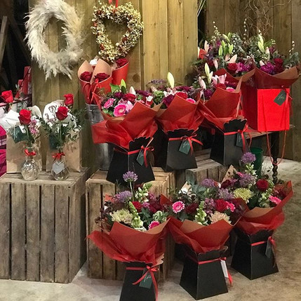 Just a few of our mixed bouquets and sin