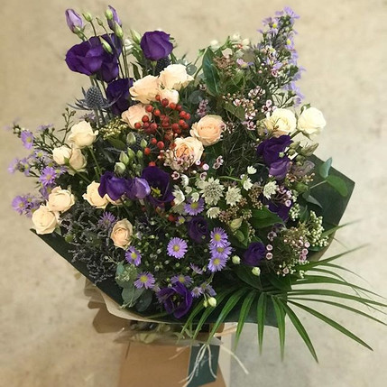 Wild rustic bouquet going out for a birt