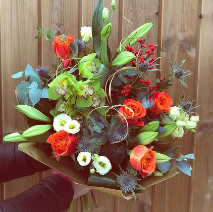 My favourite of todays bouquets! Christm