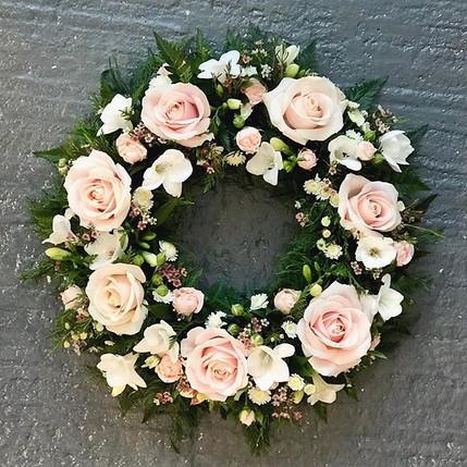 Freesia and Rose wreath ring ❤️#wreathso