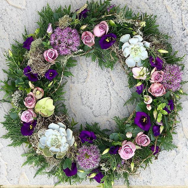 This exquisite wreath was created to com