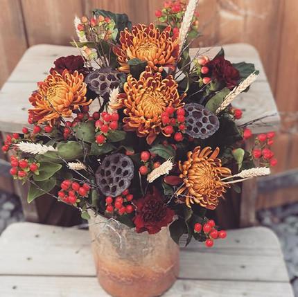 Love an autumnal arrangement this time o