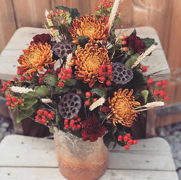 Love an autumnal arrangement this time o