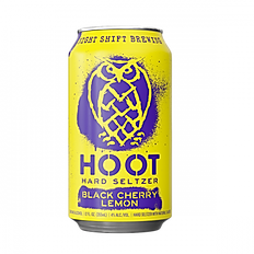 Hoot Hard Seltzer Black Cherry Lemon