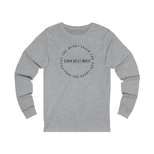 """Motto"" Unisex Jersey Long Sleeve Tee (black text)"