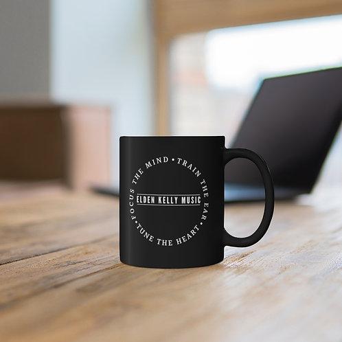 """""""Motto"""" Black Ceramic Mug"""