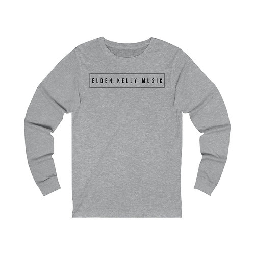 """Elden Kelly Music"" Unisex Jersey Long Sleeve Tee (black text)"