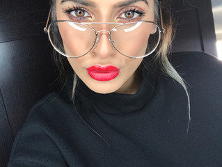 Red lips for the party season