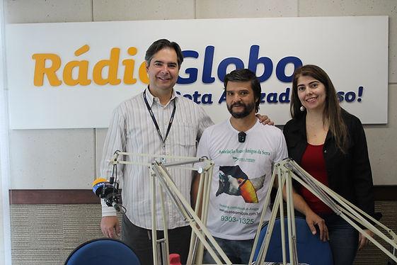 Participação da Asas e Amigos no programa da Radio Globo