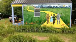 Dorothy's Cottage mural