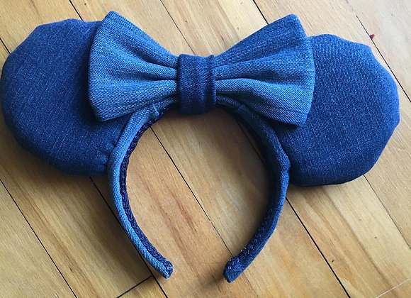 Recycled Denim Ears (Patches not Included)