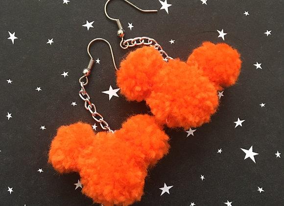 Orange Mouse Pom Dangle