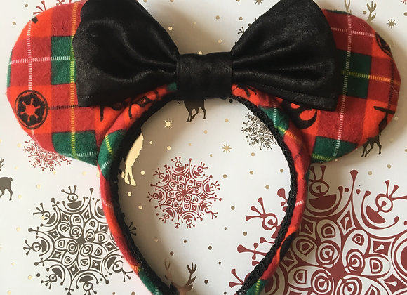 StarWars Christmas Plaid Ears