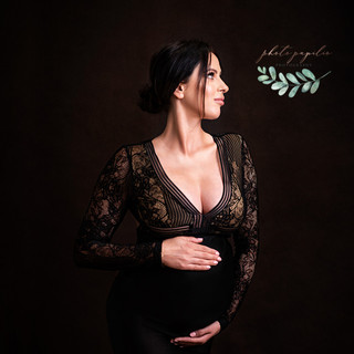 maternity black lace one