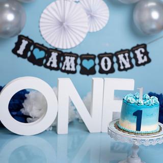 Baby blue cake one