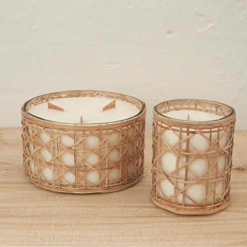 Rattan Soy Candle - Medium