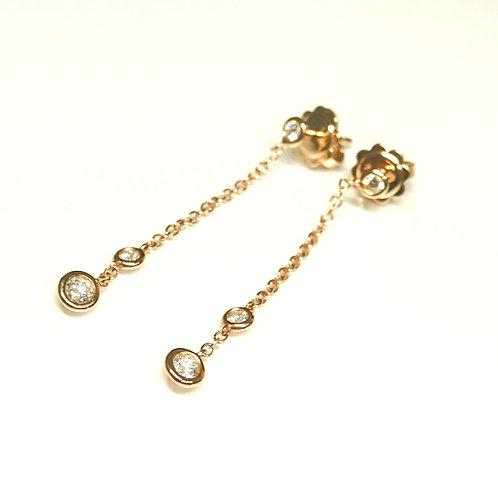Swinging Diamond Earrings (Pierced)
