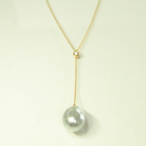 Baroque South Sea Pearl Lariat Necklace