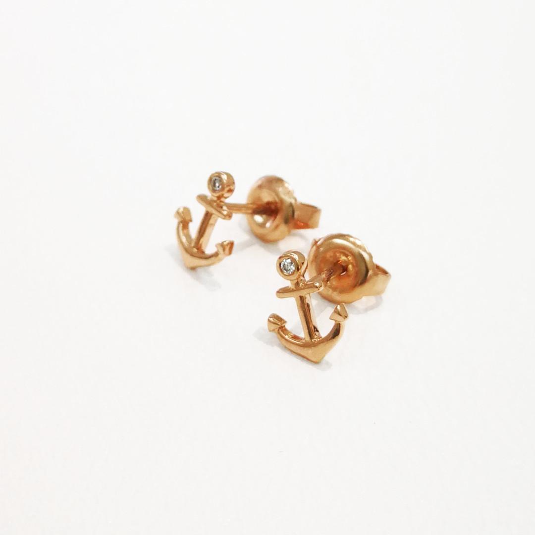 Hope stud Earrings K18PG DIA-0.10ct ¥39,600 (税込み)
