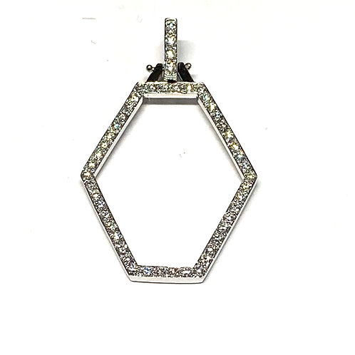 Geometric Hexagon Pendant