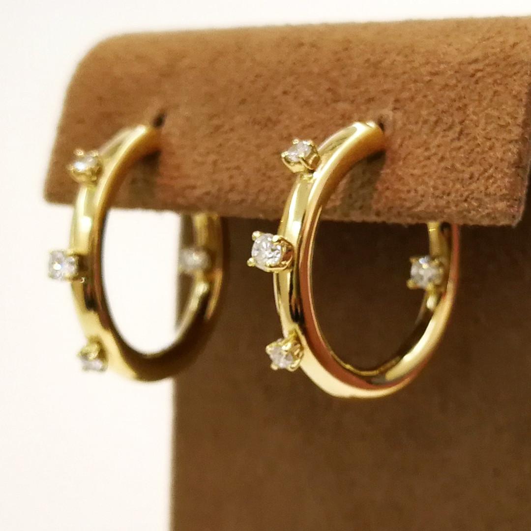 K18YG DIA Earrings ¥242,000 (税込み)