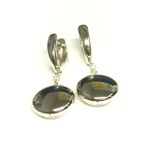 Round Disc Earrings (Pierced)