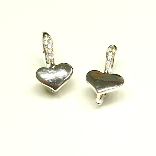 Heart Hook Earrings (Pierced)