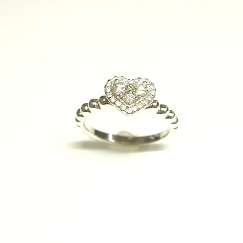 Heart Pave Ring