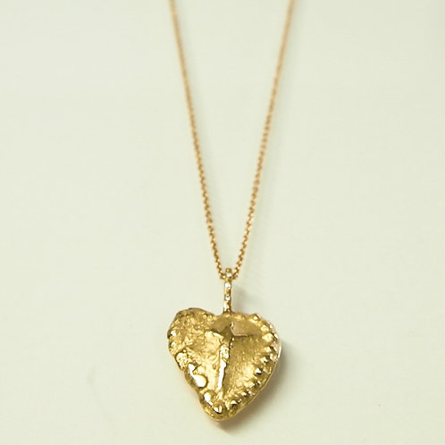 "Ancient Coin (Replica) Necklace ""Honor Your Heart"" Gold"