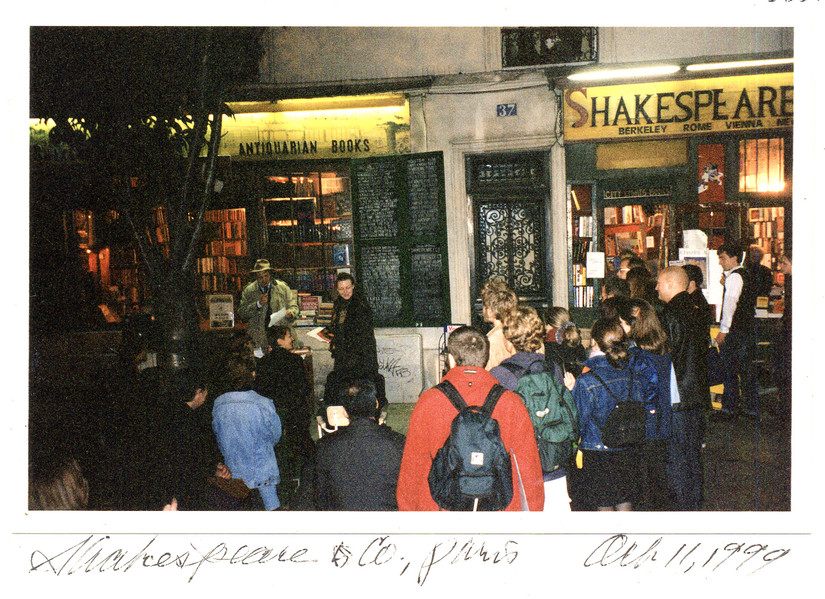 Reading at Shakespeare & Co., Paris.