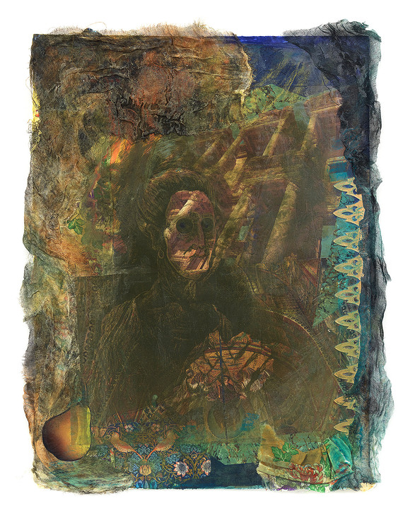 Printed Collage: Byzantine