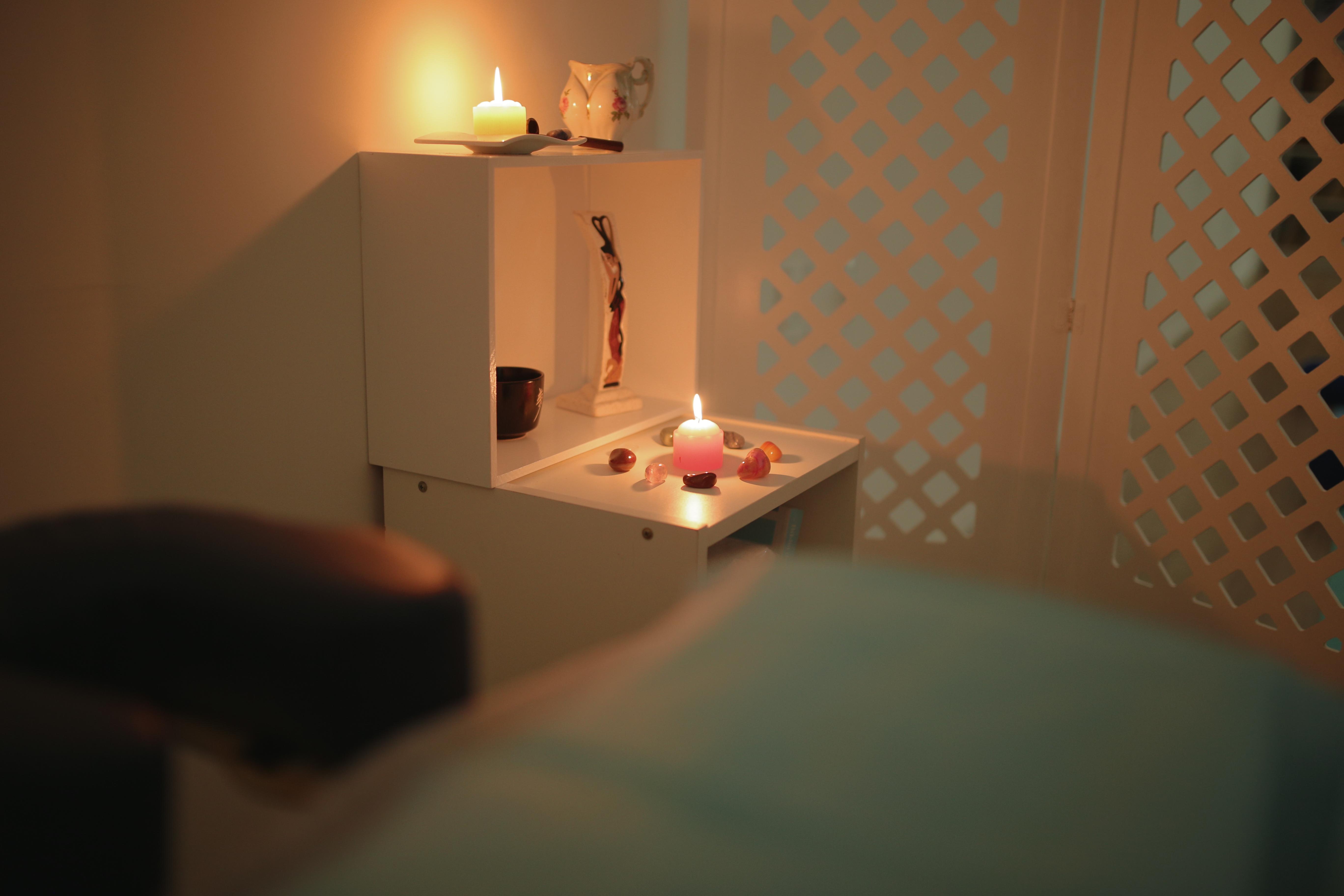 Sala pronta para a massagem