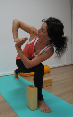 Demonstração de yoga