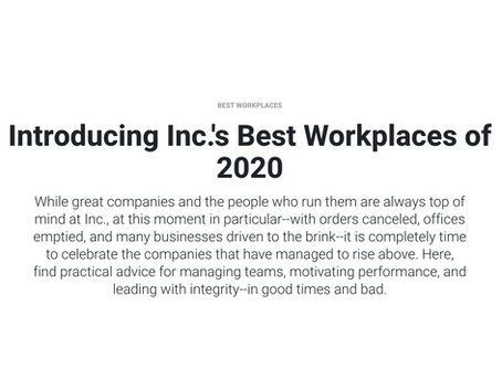 LONE CONE Makes Inc. Magazine 2020 List of Best Workplaces