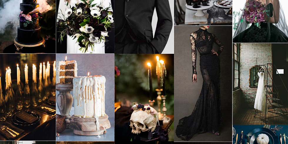 Halloween Vineyard Wedding Styled Shoot