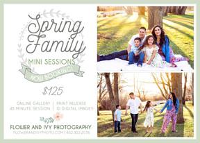 Spring Family Mini Sessions