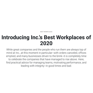Ridgeline Insights Makes Inc. Magazine 2020 List of Best Workplaces