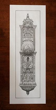 Salt Lake City Temple Doorknob Pen & Ink Print