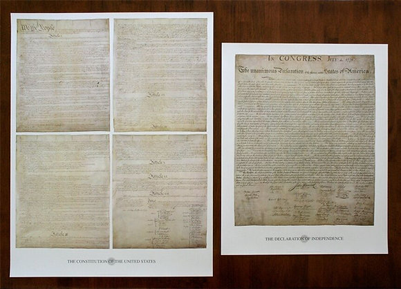 United States Constitution and Bill of Rights Large Poster Prints