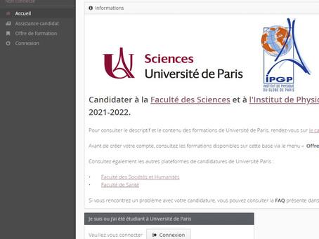 e-candidat 2021-2022 ouvert. Inscrivez-vous dès maintenant !