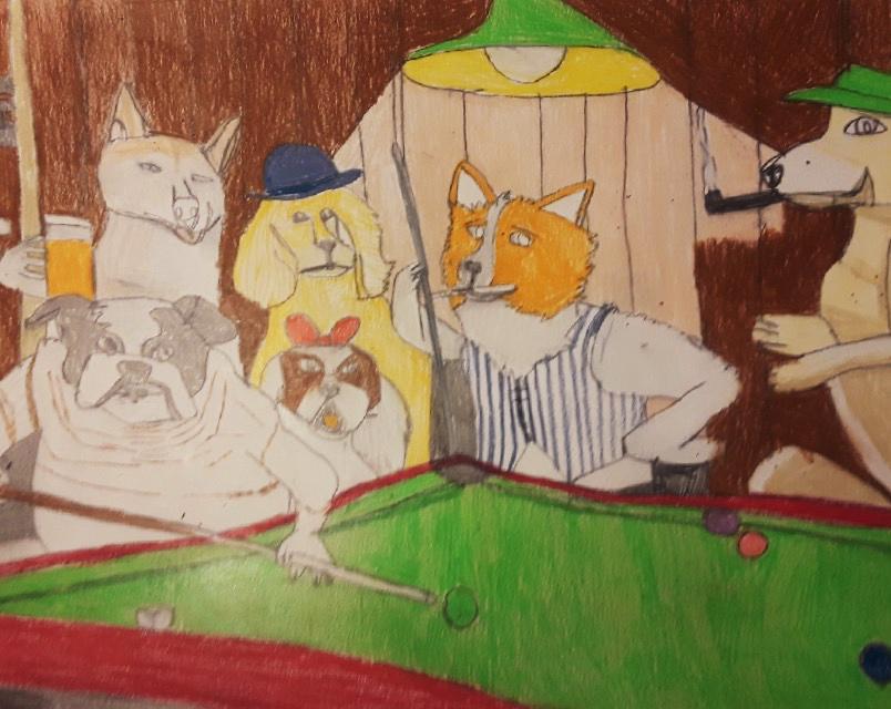"""Having a Doggone Good Time"" by George Zuniga"