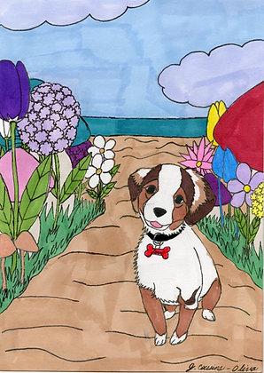 Garden Pup by Jacqueline Cousins-Oliva