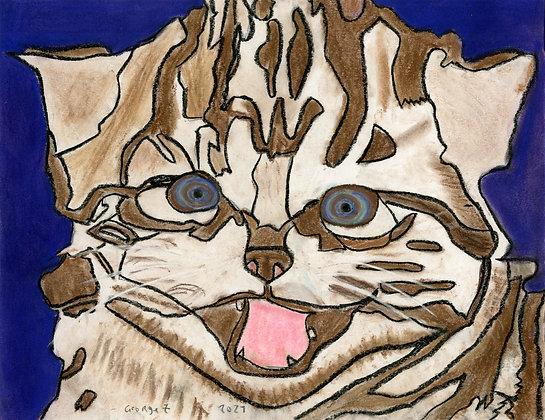 """""""Hypno Cat"""" by George Zuniga"""