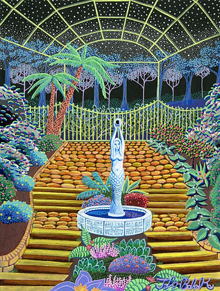 """Greenhouse Courtyard"" by John Behnke"
