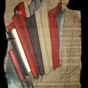pastel gras sur papier goudronné 80frs