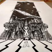 encre de chine sur papier 1m x 0.5m