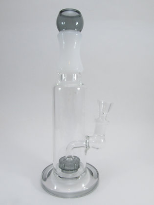 Grey Black Water Pipe w/ Perc