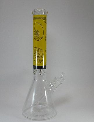 Yellow Seashell Beaker Water Pipe