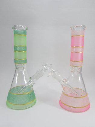 Glitter Stripes Beaker Water Pipe